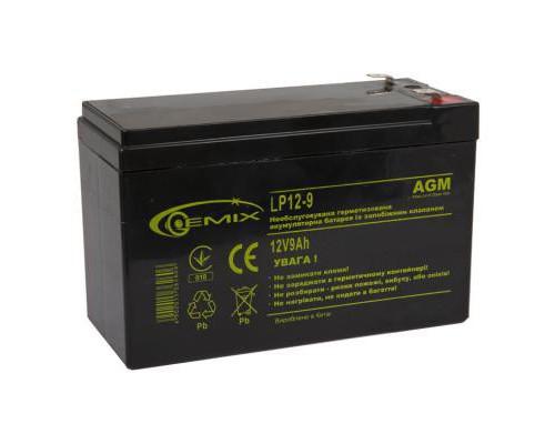 Батарея до ДБЖ 12В 9 Ач GEMIX (LP12-9)