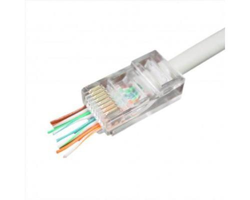 Конектор Cablexpert RJ45 cat.5e UTP 8P8C (сквозное отв., позолоч. конт.) 10 шт (LC-PTU-01/10)